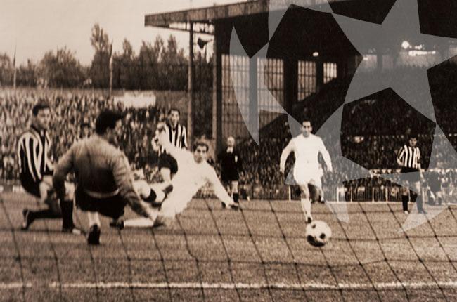 Imagen de partido de futbol antigua