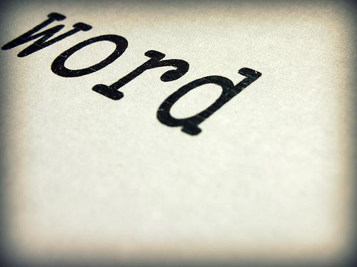La palabra word