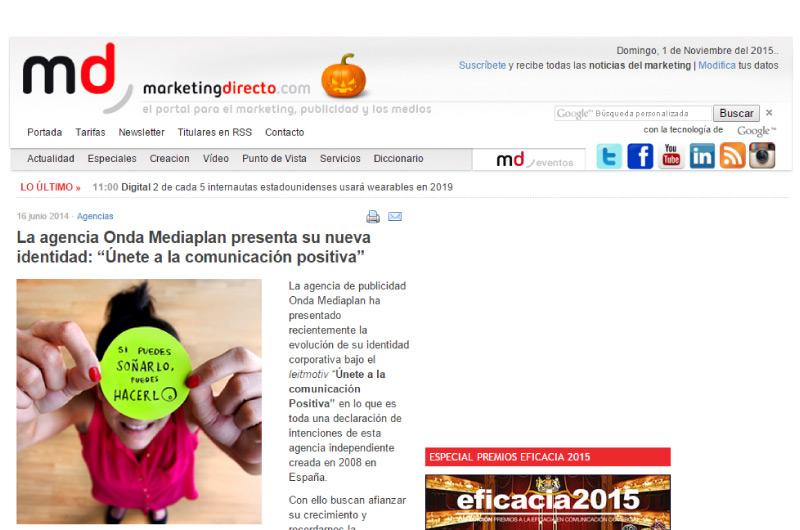 Noticias de Marketing directo con nuestro cambio de identidad