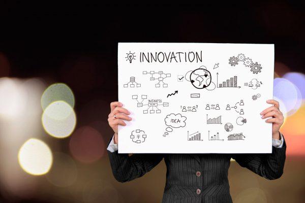 cartel con la palabra innovation