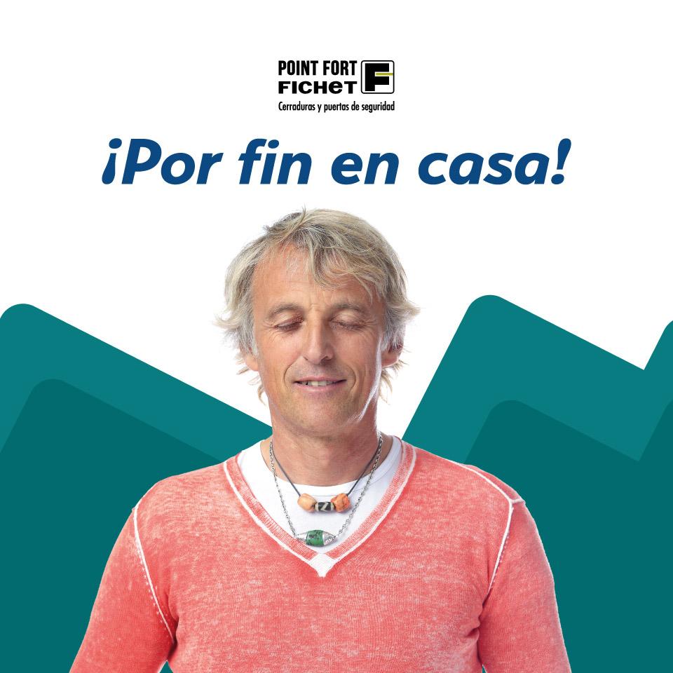 Jesús Calleja en campaña Fichet