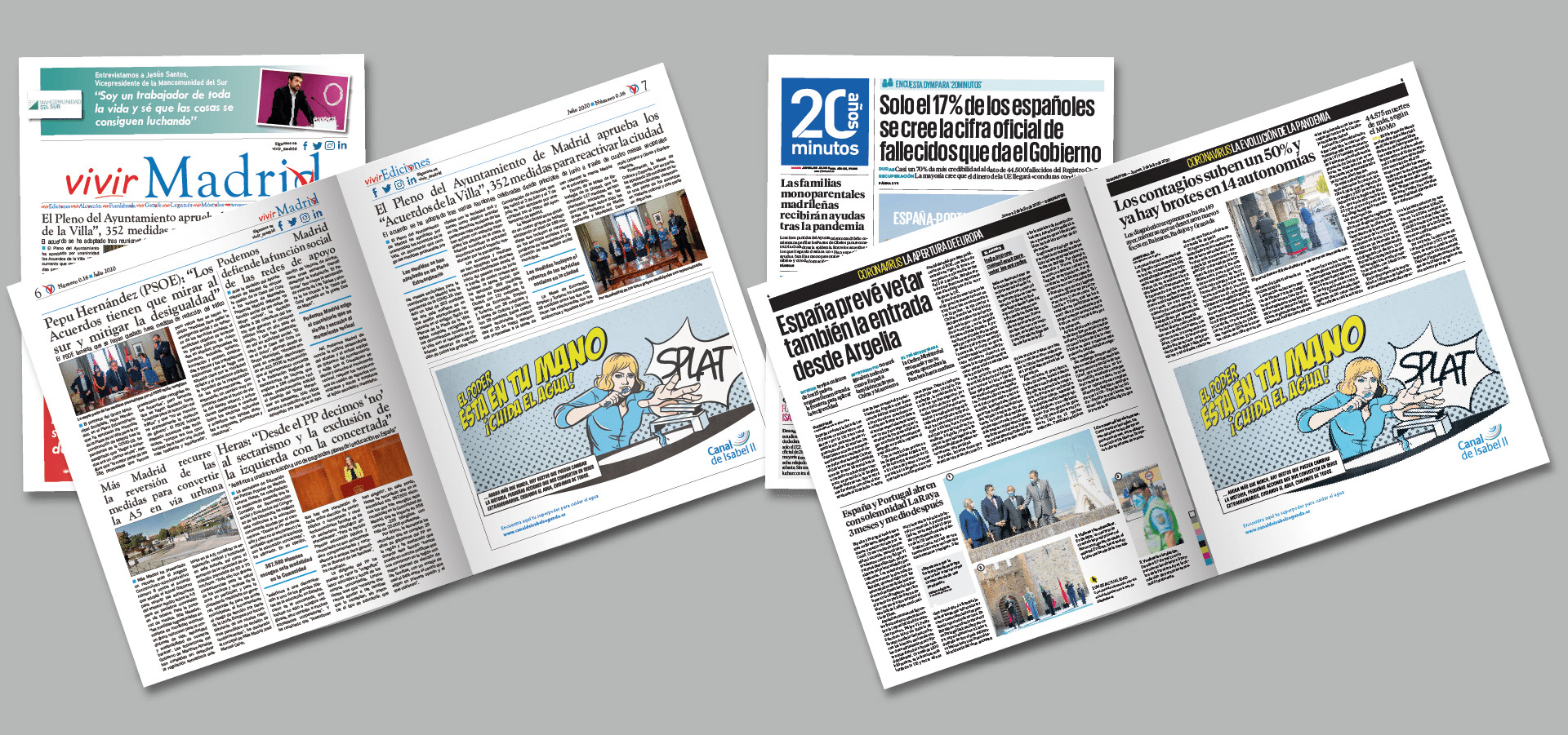 Noticias en prensa de Campaña del agua. Canal de Isabel II