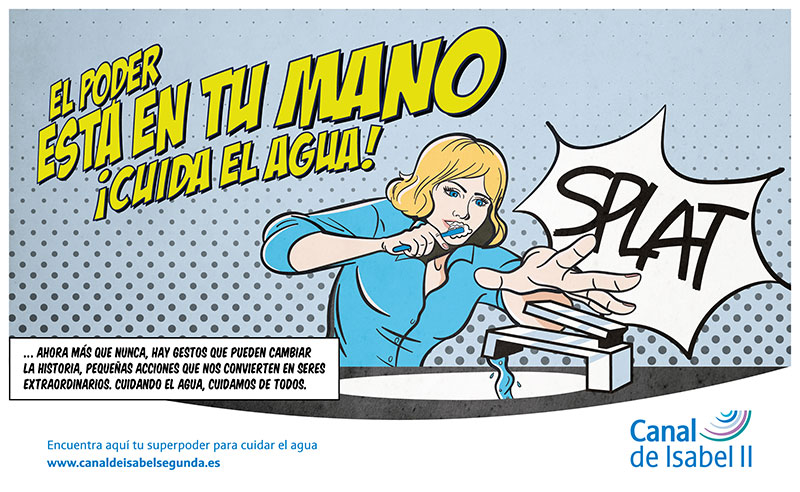 Gráfica campaña Canal Isabel II