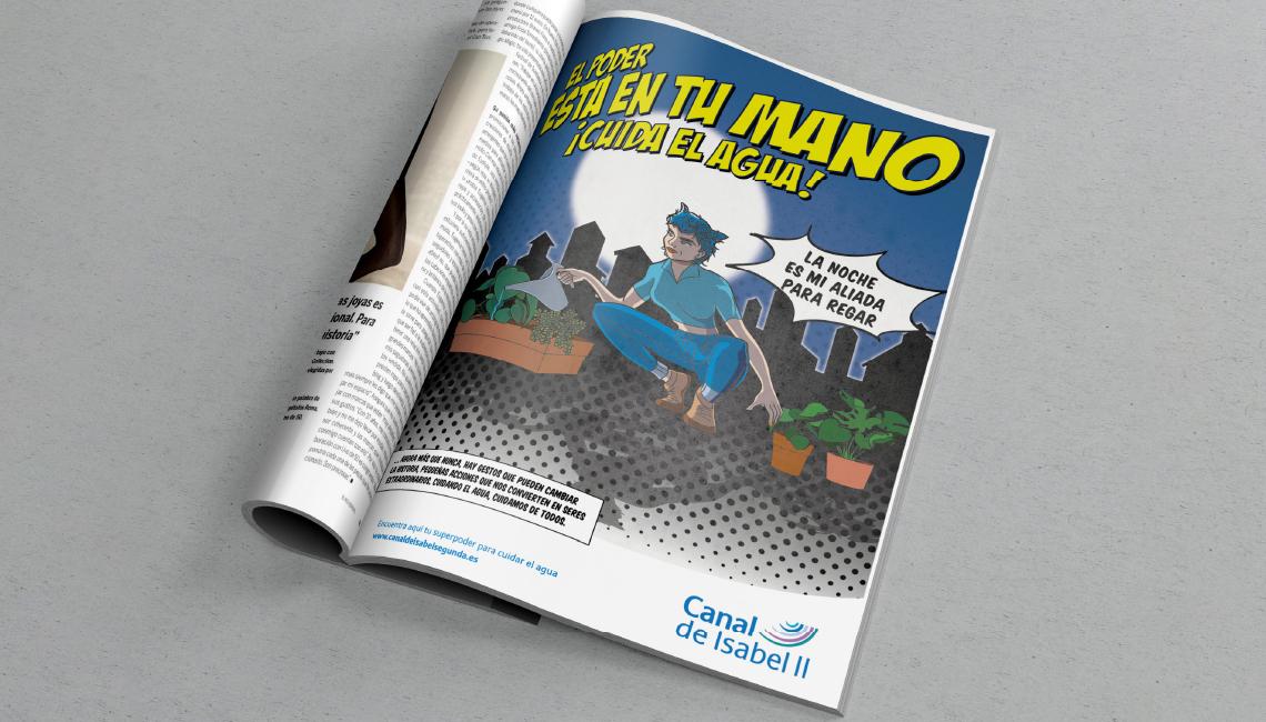 Revista anuncio El poder está en tu mano. Canal Isabel II